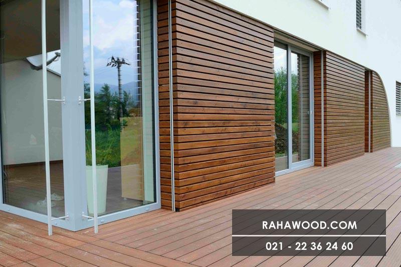 ابعاد چوب نمای ساختمان