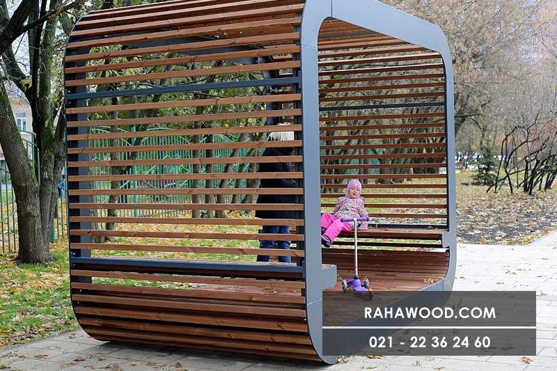 نصب قطعات نمای چوبی ترمووود