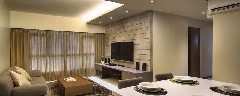فروش و اجرای نمای چوبی پشت تلویزیون