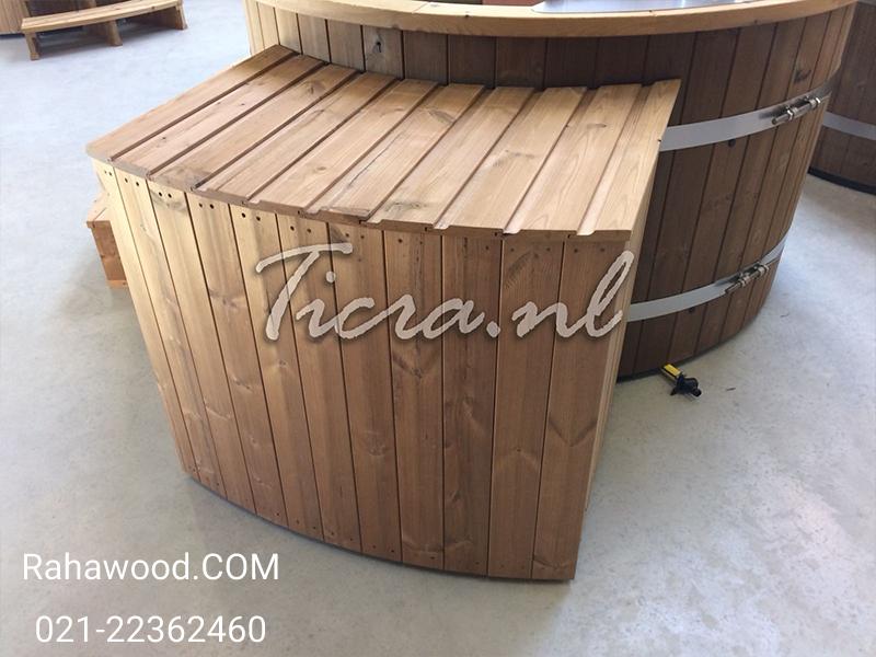 اجرای نمای چوبی جنس ترموود
