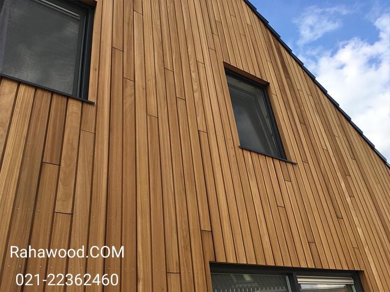 بهترین جنس ورق های نمای چوبی ساختمان ویلایی