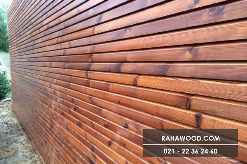 دیوار چوبی برای باغ
