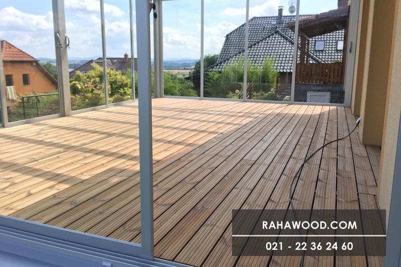 طراحی نمای چوبی داخل خانه با ترمووود