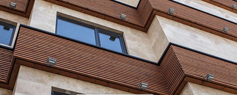چوب مناسب برای نمای ساختمان