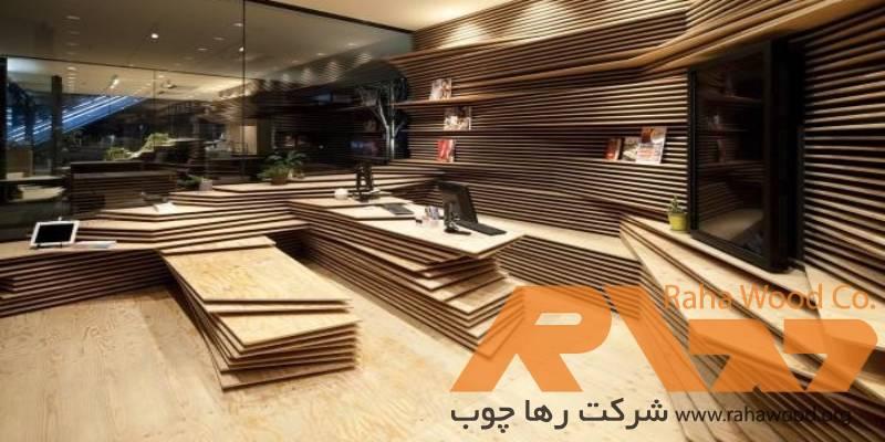 نمای چوبی فروشگاه و افزایش زیبایی