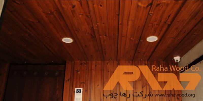 طراحی و اجرای سقف نما چوب توسط ترمووود رها